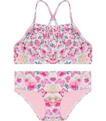 bikini textura est. flores y mariposas h2o wear
