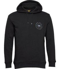 graphic hoodie hoodie svart lee jeans
