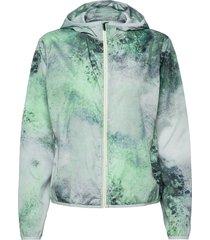 printed wind jacket outerwear sport jackets groen röhnisch