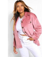 jumbo cord oversized jacket, rose