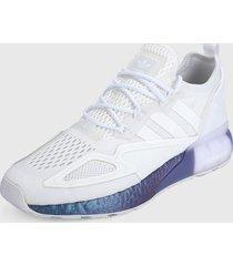 tenis lifestyle blanco-azul-morado adidas originals zx 2k boos