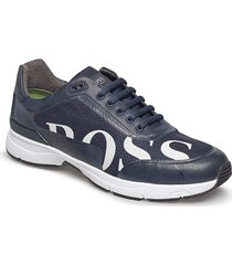 velocity_runn_logo2 låga sneakers blå boss
