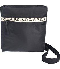 a.p.c. logo detail sacoche repeat shoulder bag