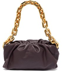 'the chain pouch' chain handle leather bag