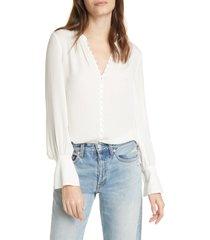 women's joie tariana silk blouse, size x-small - white