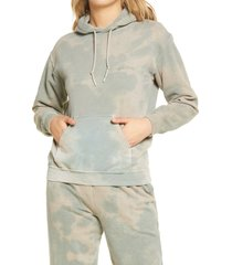 women's bdg urban outfitters camo skate hoodie, size x-large - green