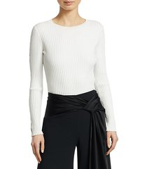 ribbed cutout sweater