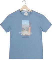 camiseta azul americanino