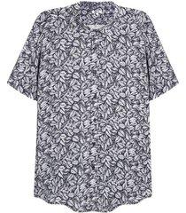 camisa hombre print hojas color azul, talla l