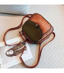 mochilas/ vintage pu leather mochila mujeres bolsa-marrón