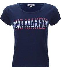 camiseta descanso no makeup color azul, talla m