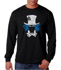la pop art men's word art long sleeve t-shirt- the mad hatter