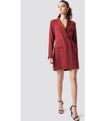 na-kd party double breasted blazer dress - red