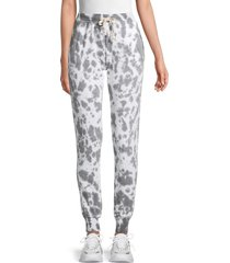 theo & spence women's tie-dyed jogger pants - washed black - size l