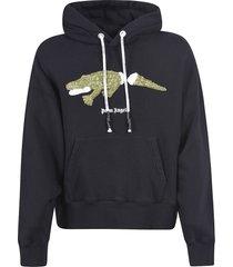 palm angels croco hoodie