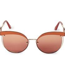 roberto cavalli women's 63mm cat eye sunglasses - brown