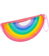 rainbow see-through clutch