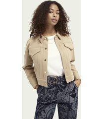 scotch & soda organic cotton-blend sweater jacket
