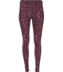leggings marmolado rojo color morado, talla xs