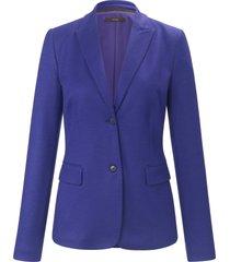 jerseyblazer van 100% wol met blind rugsplit van windsor paars