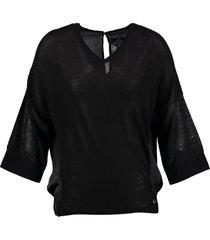 replay zwarte trui blouse 3/4 mouw