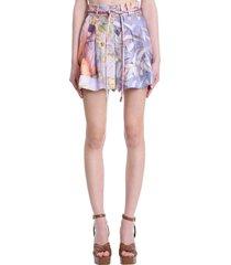zimmermann skirt in multicolor silk