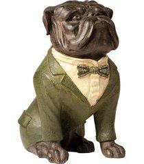 escultura decorativa de resina cachorro ringo