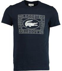 lacoste t-shirt donkerblauw met logo th5097/166