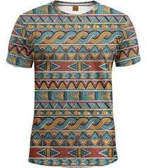 camiseta étnica listrada tribal swag calt store masculina - masculino