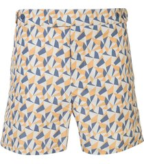 frescobol carioca fragment tailored swim shorts - yellow