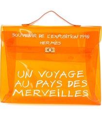 hermès pre-owned vinyl kelly beach bag - orange