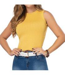 blusa country amarillo para mujer croydon