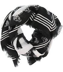 alexander mcqueen graffiti biker scarf
