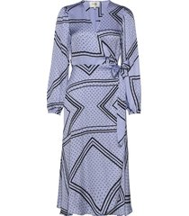 isa ls wrap dress jurk knielengte second female