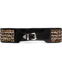 philipp plein leopard-print waist belt - brown
