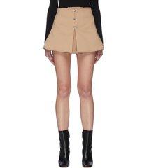 hook front accordion pleat mini skirt