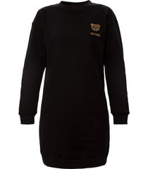 appliquéd sweatshirt jurk