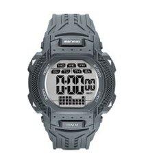 relógio digital mormaii masculino - mo18779ab8a cinza