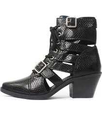 bota gladiadora damannu shoes jennie preto