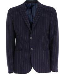 giorgio armani pinstriped blazer