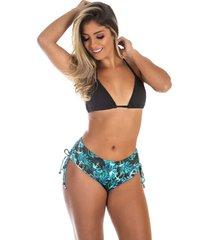 biquãni galvic sunquini moda praia top liso cor preto - preto - feminino - dafiti