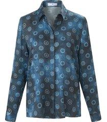 blouse met lange mouwen en cirkeldessin van peter hahn multicolour
