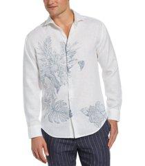 cubavera men's reverse tropical print shirt