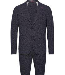 packable flex fks slim fit suit pak blauw tommy hilfiger tailored
