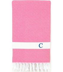 linum home personalized diamond pestemal pink beach towel bedding