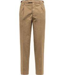 barena pantalone masco in cotone beige
