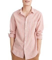 men's madewell linen cotton perfect shirt
