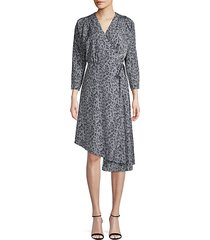 acantha leopard-print wrap dress