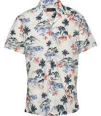 david bowling shirt kortärmad skjorta vit morris