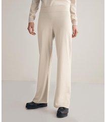 pantalone cashmere palazzo
